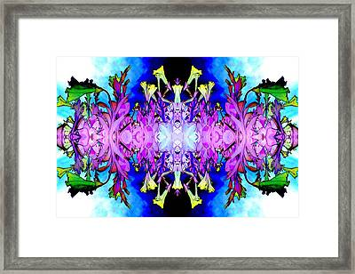 Purple Flower Abstract Framed Print by Marianne Dow
