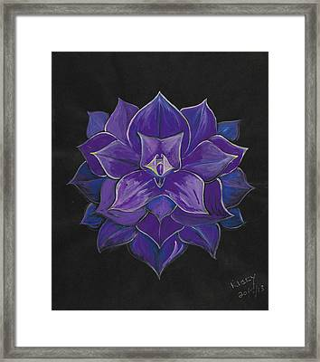 Purple Flower - Painting Framed Print by Veronica Rickard