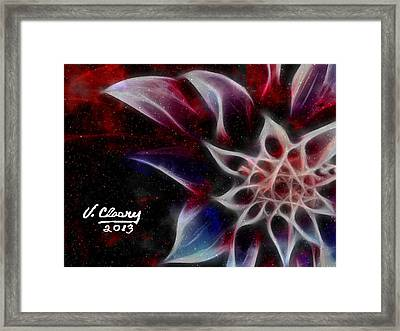 Purple Flower Framed Print by Virginia Cleary