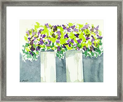 Purple Flowers Abstract Framed Print by Frank Bright