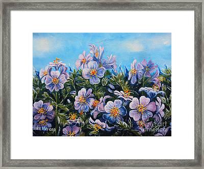Purple Flowers Framed Print by Drinka Mercep