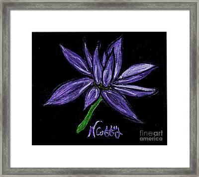 Purple Flowers Framed Print by Neil Stuart Coffey
