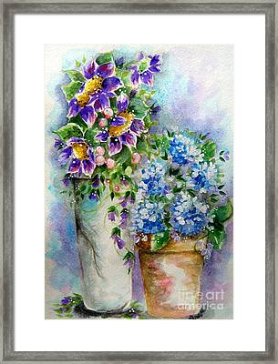 Purple Flowers Framed Print by Patrice Torrillo