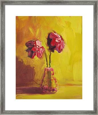 Purple Flowers Framed Print by Patricia Awapara