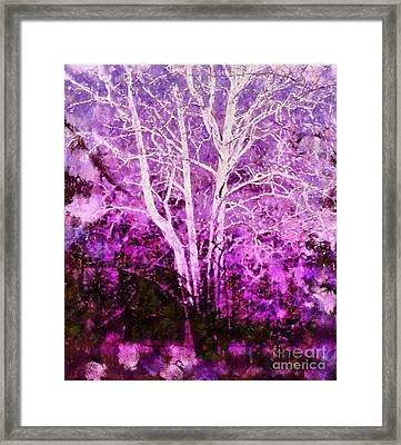 Purple Forest Fantasy Framed Print by Janine Riley