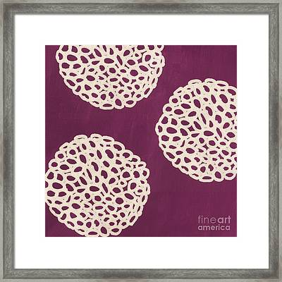 Purple Garden Bloom Framed Print by Linda Woods