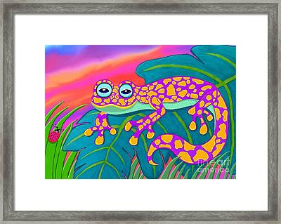 Purple Gecko Framed Print