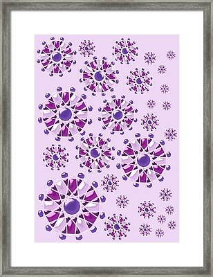Purple Gems Framed Print