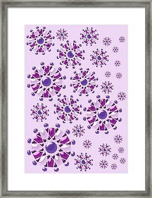 Purple Gems Framed Print by Anastasiya Malakhova
