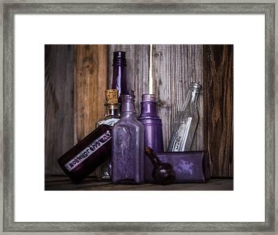 Purple Glass Framed Print