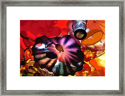 Framed Print featuring the digital art Purple Glass In Sea Of Red by Kirt Tisdale