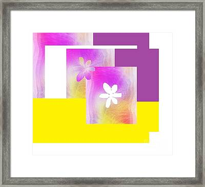 Purple Glow Flower Framed Print