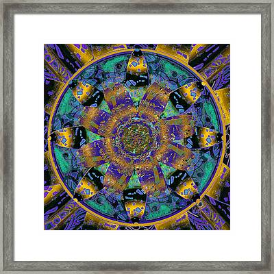 Purple Gold Dream Catcher Mandala Framed Print