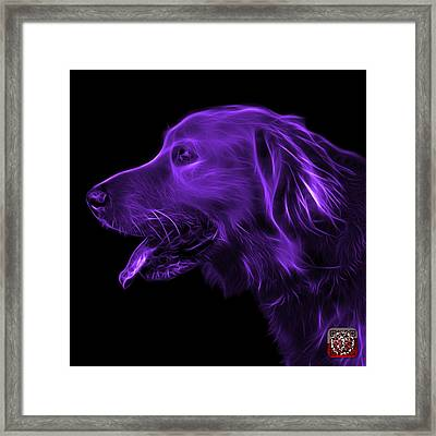 Purple Golden Retriever - 4047 F Framed Print