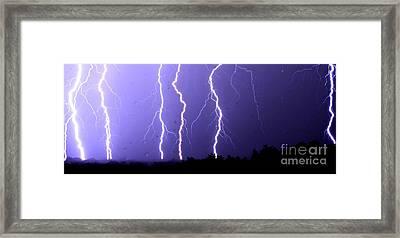 Purple Rain Lightning Framed Print