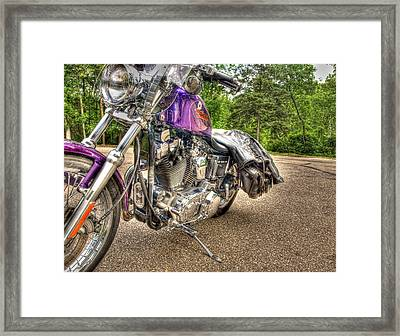 Purple Harley Framed Print by Thomas Young