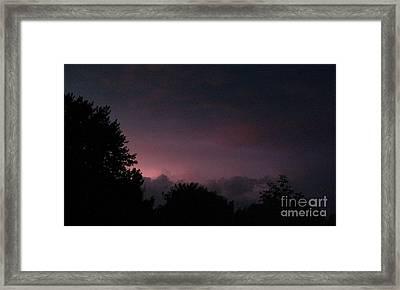 Purple Haze After Storm Framed Print by Gail Matthews