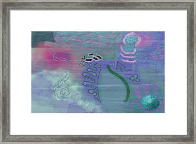 Purple Haze Between The Clouds Framed Print by Lazaros