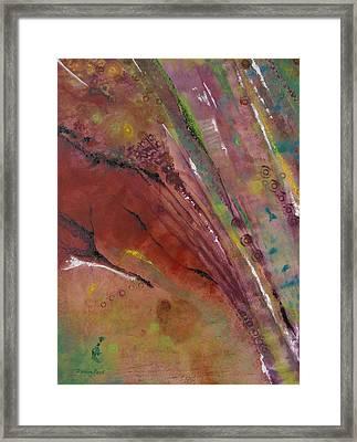 Purple Haze Framed Print by Denise Peat