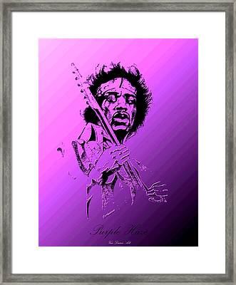 Purple Haze Framed Print by Gordon Van Dusen