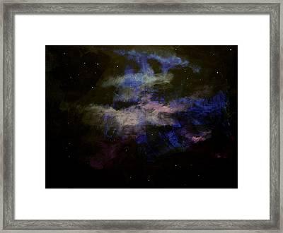 Purple Haze Framed Print by Kathy Peltomaa Lewis