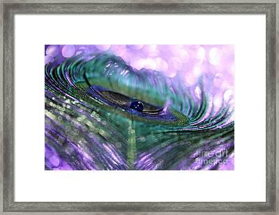 Purple Haze Framed Print by Krissy Katsimbras