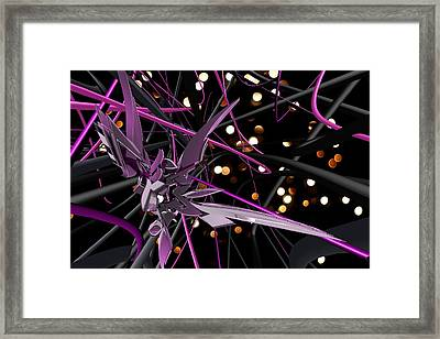 Purple Haze Framed Print by Louis Ferreira
