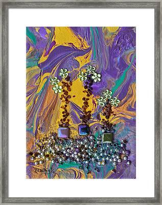 Purple Haze Pot Garden Framed Print by Donna Blackhall