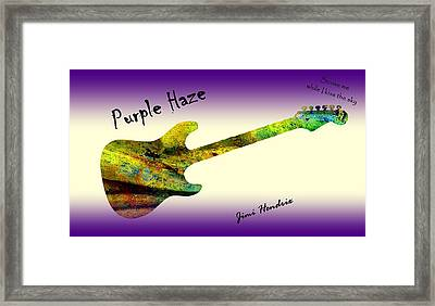Purple Haze Scuse Me While I Kiss The Sky Hendrix Framed Print