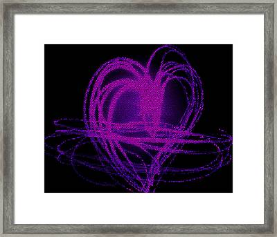 Purple Heart Framed Print by Aya Murrells