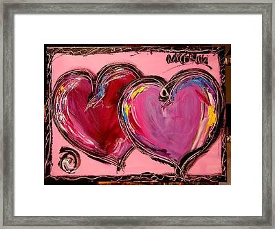 Purple Hearts Framed Print by Mark Kazav