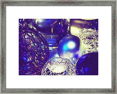 Purple Holidays Card Framed Print by Lisa Knechtel