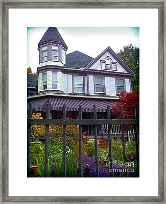 Purple House In Ligonier Pa Framed Print by Shelly Weingart