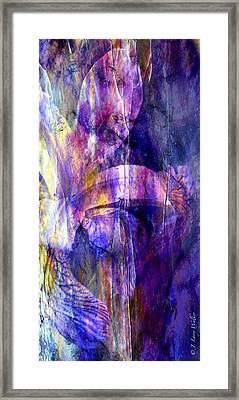 Purple Iris Abstract Framed Print by J Larry Walker