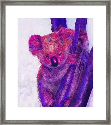 Purple Koala Framed Print by Jane Schnetlage