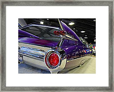 Purple Kustom Kadillac Framed Print