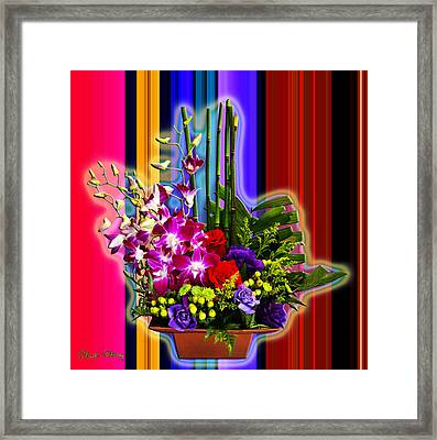 Purple Lady Flowers Framed Print