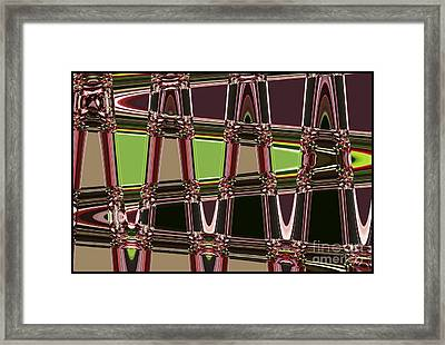 Purple Leaves Abstract Framed Print by Carol Groenen