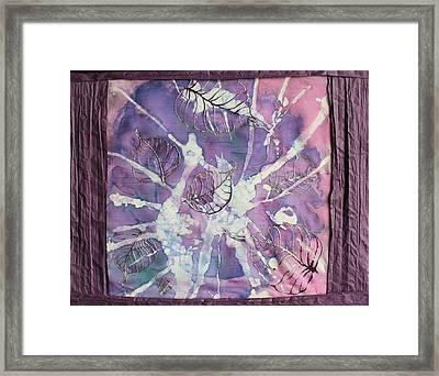 Purple Leaves Framed Print by Nora Padar