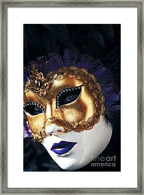 Purple Lips Framed Print by John Rizzuto