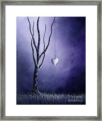 Purple Love By Shawna Erback Framed Print by Shawna Erback