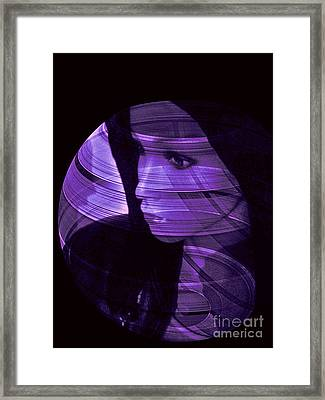 Purple Love Framed Print