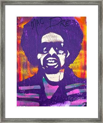 Purple Mac Dre Framed Print by Tony B Conscious