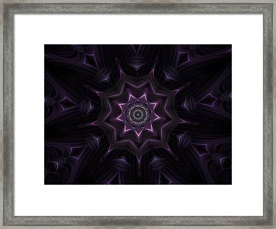 Purple Majestry Kaleidoscope Framed Print