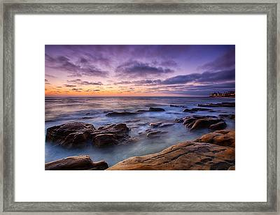 Purple Majesty No Mountain Framed Print by Peter Tellone