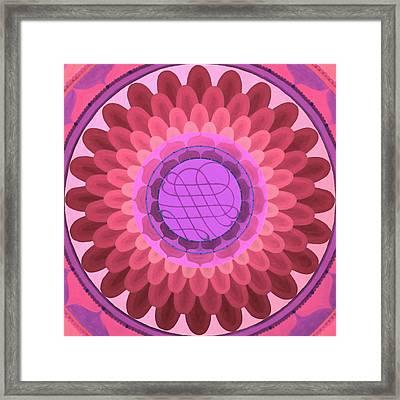 Purple Mandala Framed Print by Vlatka Kelc