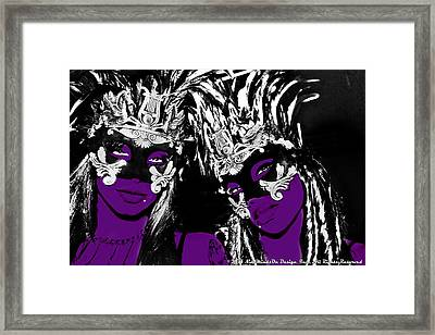 Purple Mask Framed Print by Ley Clarie Gray