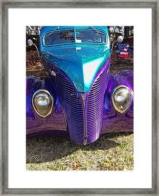 Purple Maze Framed Print
