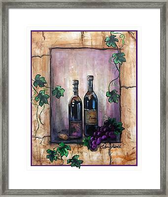 Hazy Purple Memories Framed Print
