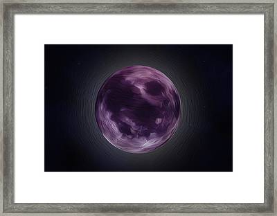 Purple Moon  Framed Print by Nathan Clepper